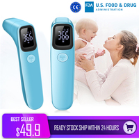 ALiCN Infrared Thermometer Non contact Forehead Thermometer Gun Adult Baby High Accuracy LED Digital Display Temperature Meter