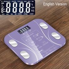 Promocja! Indeks ciała elektroniczny inteligentny wagi łazienka ciało B mi skala cyfrowy waga człowieka Mi wagi podłogowe wyświetlacz Lcd tanie tanio Weight Scale CN (pochodzenie)