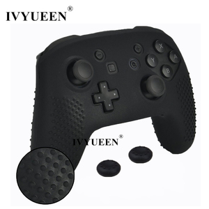 Image 1 - IVYUEEN Anti slip Silicone Skin Cover for Nintend Switch NS Pro Controller Protective Case Analog Stick Caps for Nintendo Switch