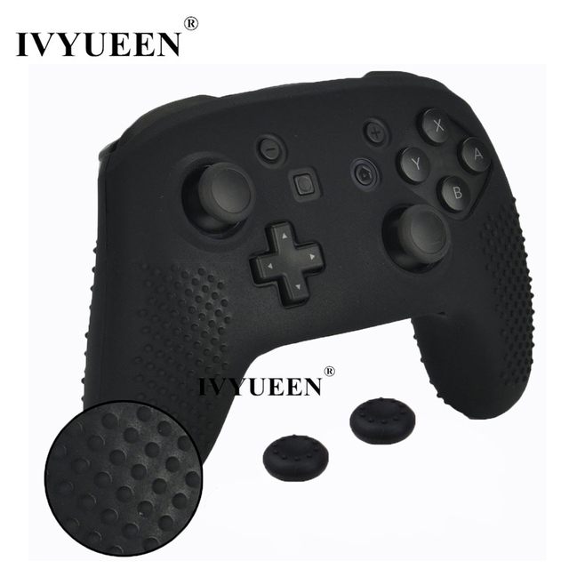 IVYUEEN Anti slip Silicone Skin Cover for Nintend Switch NS Pro Controller Protective Case Analog Stick Caps for Nintendo Switch