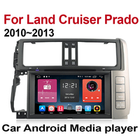 ZaiXi for Toyota Land Cruiser Prado LC150 Touch screen Android car Audio 2010 2013 GPS navi BT radio mic Media Navigation system