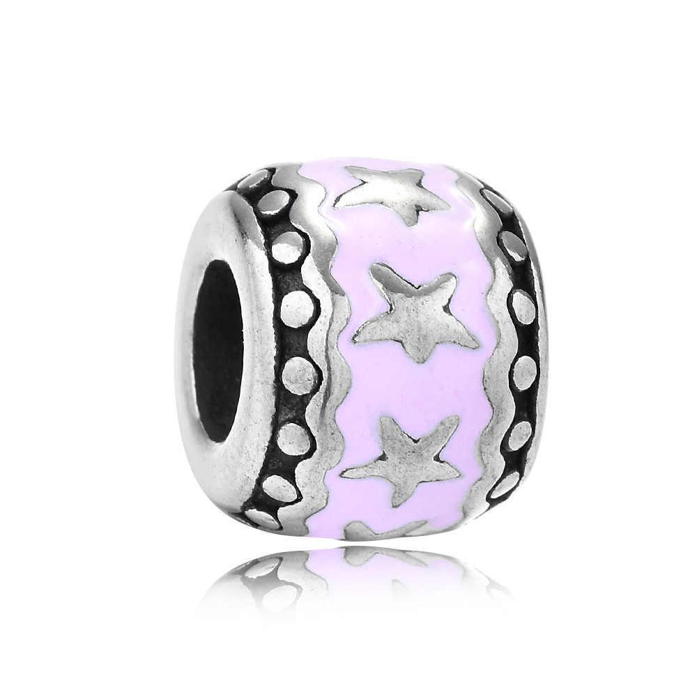 Reamor כוכב אפוקסי שמן עגול צורת Loose חרוזים נשים אביזרי Fit האופנתי מקורי קסמי חרוזים צמיד תכשיטים