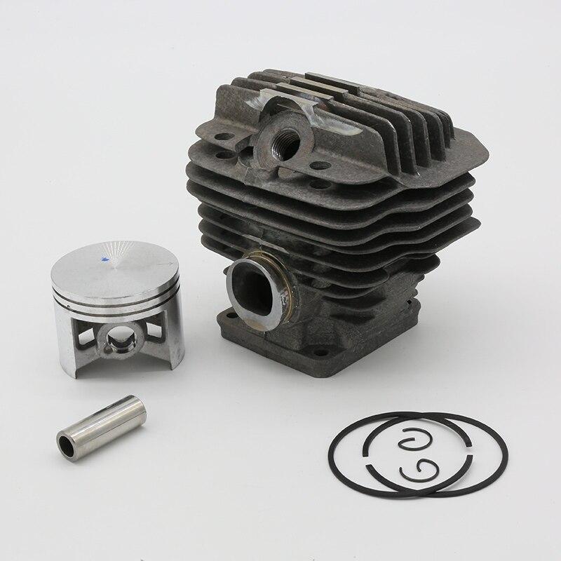 Pistão do Cilindro Apto para Stihl Peças de Motor Kits Pino ms 440 044 Motosserra 1128 020 1227 50mm 10mm Ms440
