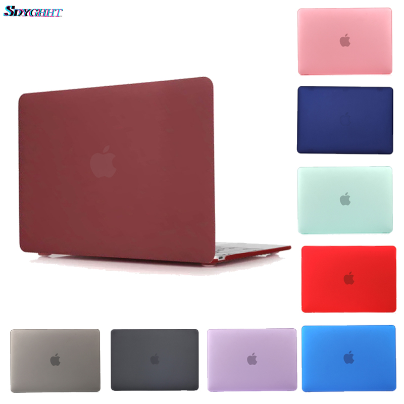 Hot Laptop Case For Macbook Pro Retina Air 11 12 13 15,2019 for <font><b>mac</b></font> Air 13 A1466 A1932,New pro 13.3 15.4 A1707 <font><b>A1708</b></font> shell <font><b>cover</b></font> image
