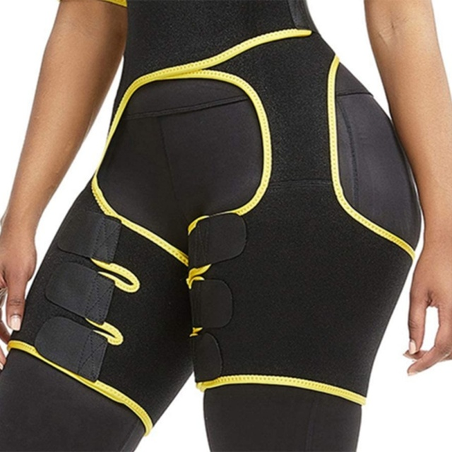 Waist Training Sweat Shapewear Slim Thigh Trimmer Leg Shapers Slimming Belt Fat Burning Compress Belt 5