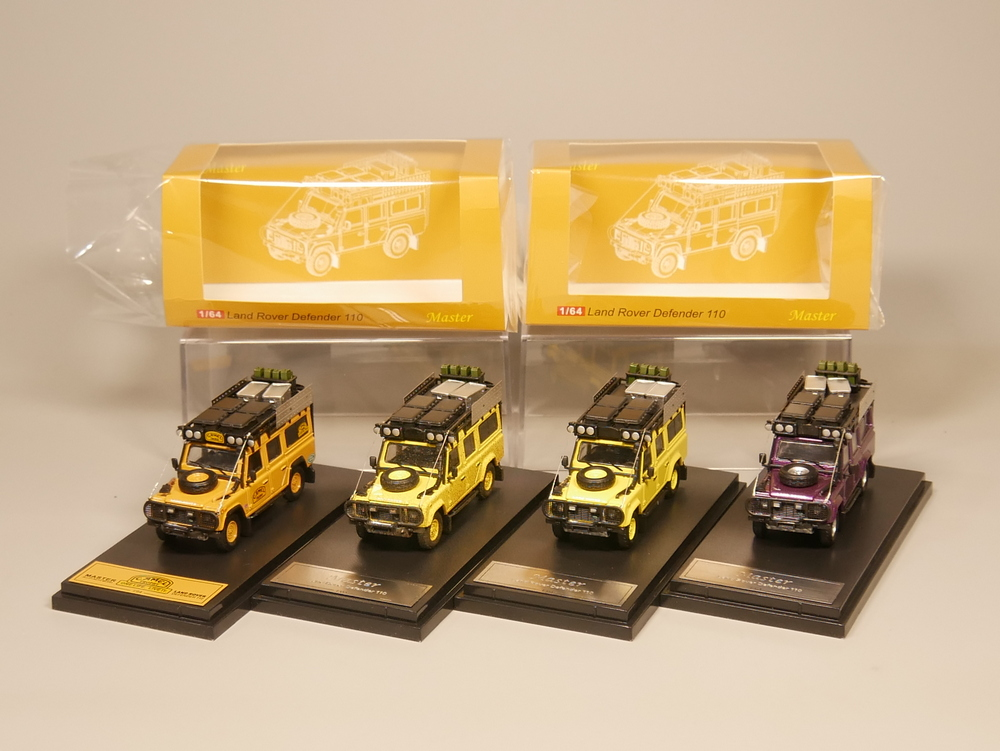 Master 1:64 Defender 110 With Replenishing Supplies Diecast Model Car