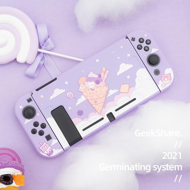 Kawaii Purple Icecream Nintendo Switch Case 1