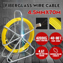 Fish-Tape Cable Glass-Wire Pull-Electrician Rodder Snake 70m-Fiber 4200kg Duct Tensile-Fracture