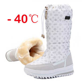 Women boots winter shoes women platform thick plush warm waterproof high snow boots botas mujer size 35-42 - DISCOUNT ITEM  35% OFF All Category
