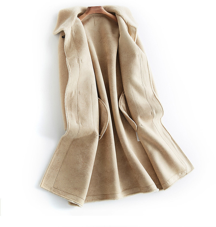 Sheep Real Shearling Fur 100% Wool Coat 2020 Winter Jacket Women Real Fur Coat Female Korean Jackets Abrigo Mujer MY3547 S