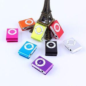 Image 2 - 1PCs Mini Tragbare USB MP3 Player Mini Clip MP3 Wasserdichte Sport Compact Metall Mp3 Musik Player mit TF Karte slot Candy Farben
