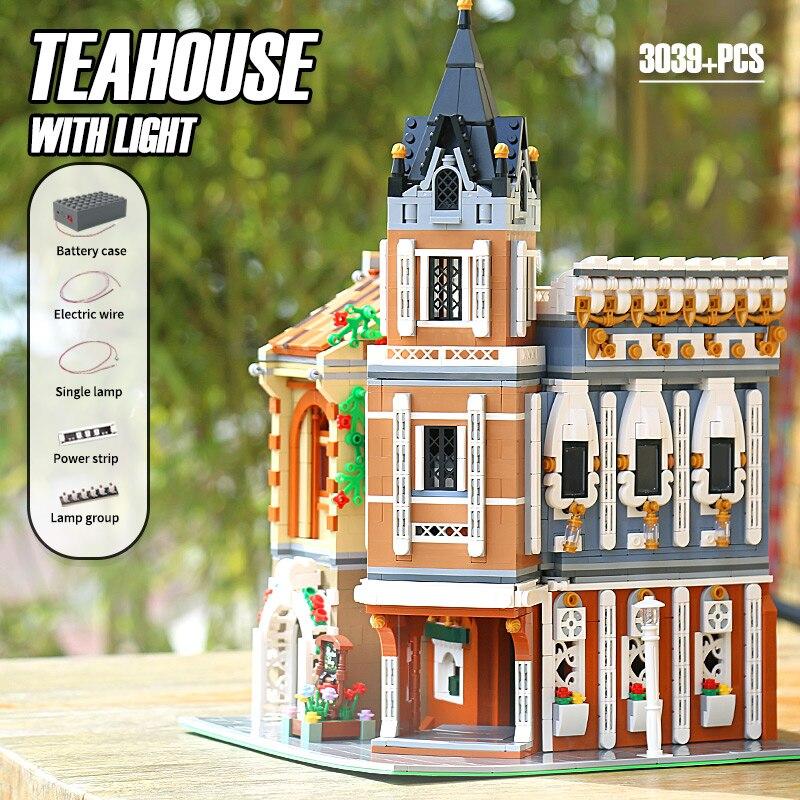MOULD KING 16026 The MOC Afternoon Tea Restaurant Building Blocks