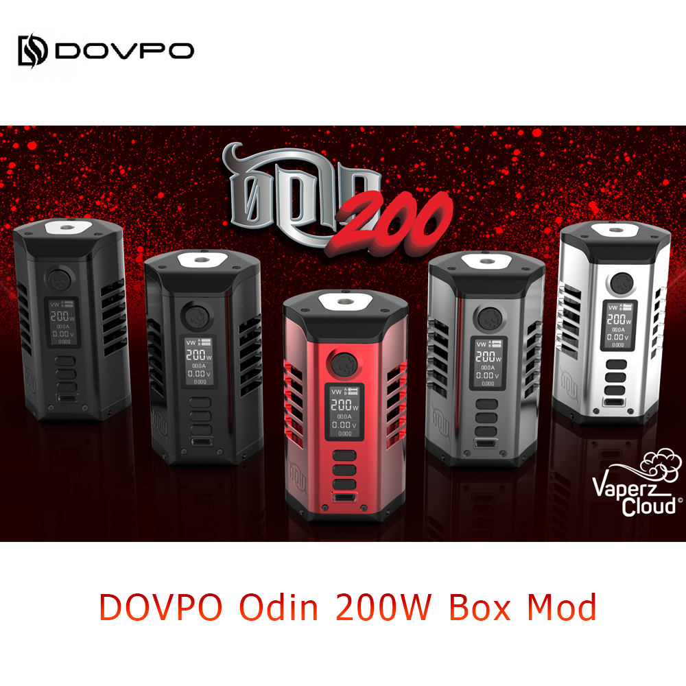 Dovpo Odin 200W Box Mod Powered By Dual 21700 Battery With 0.96 Inch OLED Screen Max 200W Box Mod VS Swag 2/Gen Mod/Topside image