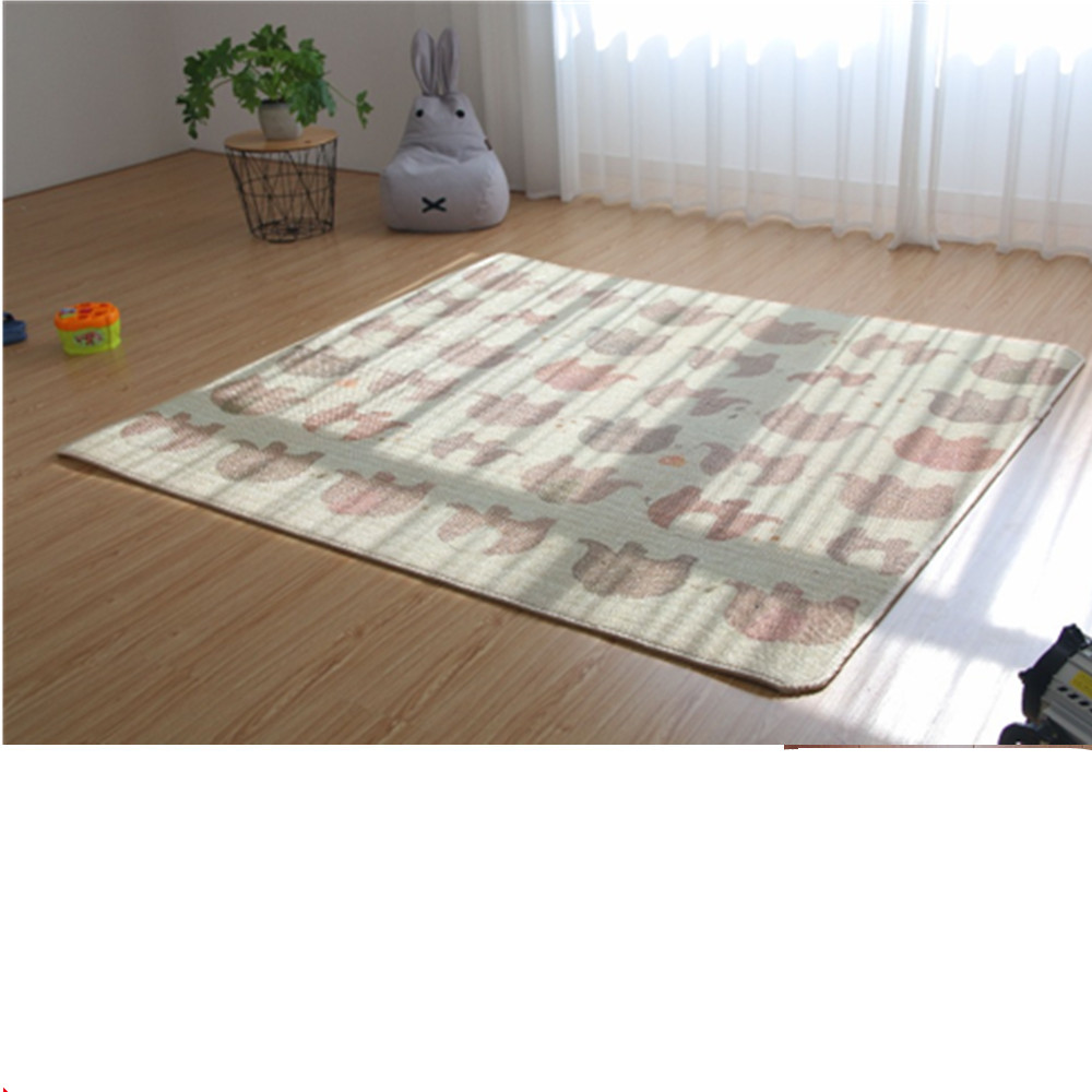 Kids Rug Developing Mat Playmat Waterproof Thickness Two Sides Kid Cute Play Mat Child Thick Picnic Carpet Rug Baby Crawling Mat