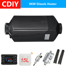 12V 8KW Car Diesels Air Parking Heater Car Heater LCD Remote Control Monitor Switch + Silencer for Trucks Bus Trailer Heater стоимость
