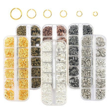 1050Pcs 0.7mm plated color Open Jump Rings Mixed 4mm 5mm 6mm 7mm 8mm 10mm iron Split For DIY Jewelry Making 6 colors