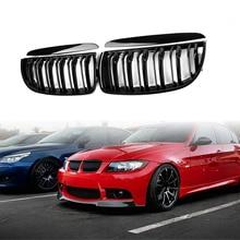 Черный глянец Передняя решетка решетки для BMW салон для E90 E91 2005-2008 4D