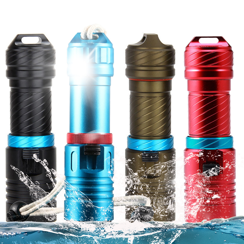 Scuba Light For Diving Norkel Flashlight Led 5000LM Cree L2 Dive 80 Meter Diving Torch Lamp Diver Light Waterproof Fishing