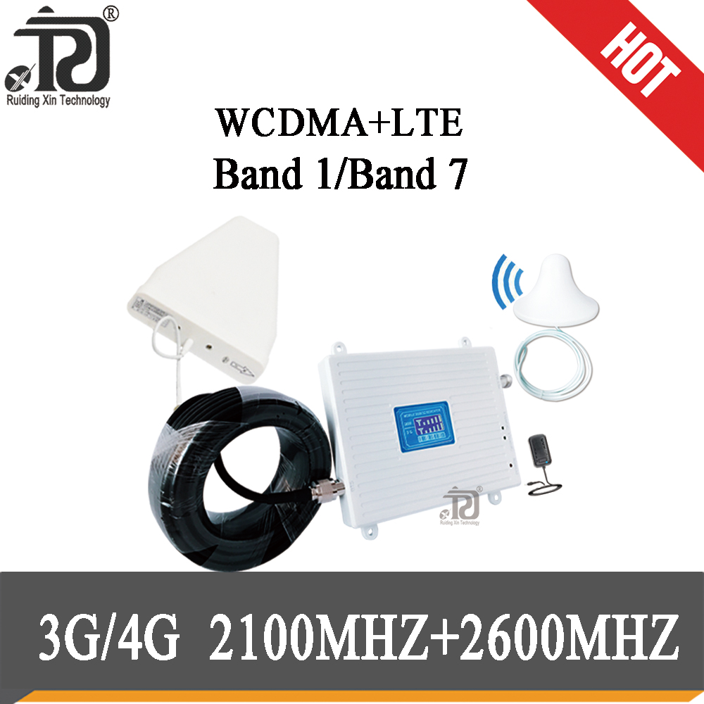 75dB Gain 3g 4g  Signal Booster 2100 2600 Mhz 4G Signal Booster LTE WCDMA  Mobile Signal Repeater Cellular Signal Amplifier Set