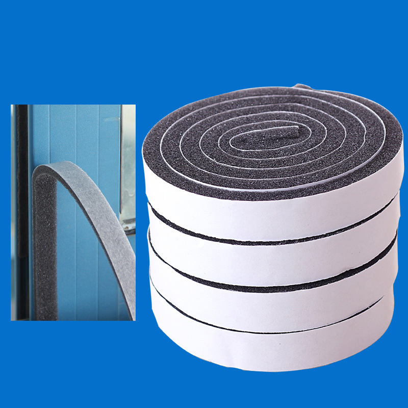 4 Rolls Self Adhesive Seal Strip Door Window Sealing Strips Noise For Sound Insulation Wind Dust EVA Tape Blocker Sealer Stopper