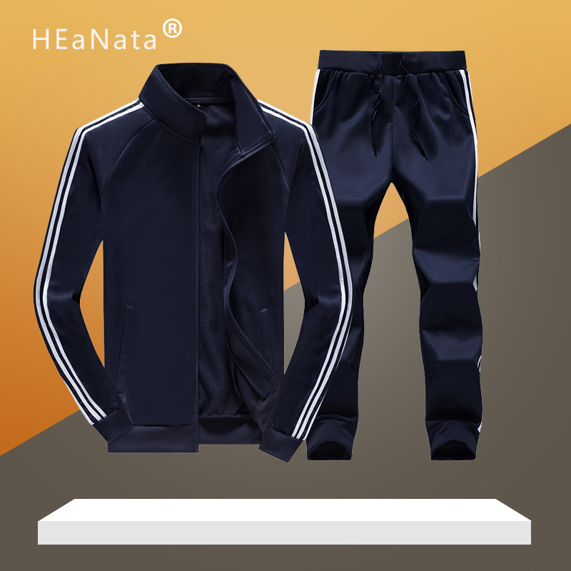 New Men's  Sportwear Sets Loose Tracksuits Mens Summer Autumn Jogging Fitness Training Sports Suits Two Pieces Jacket With Pants