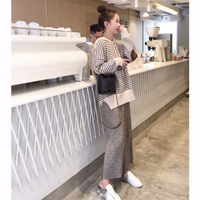 Fall Winter Lady New Style 2 Sets of Hoodie + Dress Acrylic Cotton Keeps You Warm Plus Size Outdoor Street Korean Leisure Suit