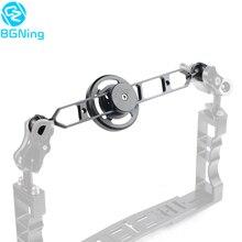 Алюминиевый держатель для макрообъектива 67 мм с широкоугольной подставкой для объектива с удлинителем 5/7/9/11 дюймов для подводной съемки SLR