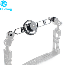 Aluminum 67mm Macro Lens Holder Wide Angle Lens Stand with 5/7/9/11inch Extension Diving Floating Arm Underwater SLR Photography