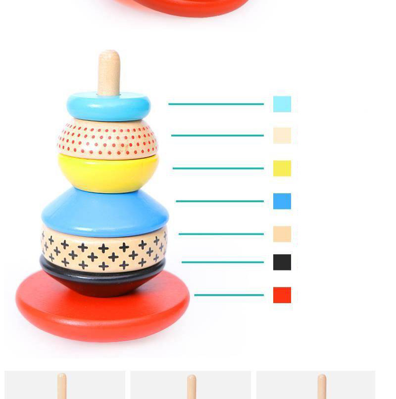 Brinquedos do bebê arco-íris empilhador brinquedos de