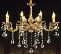 현대 led 크리스탈 샹들리에 아연 일시 중단 된 램프 럭셔리 홈 데코 비품 거실 luminaires 침실 매달려 조명