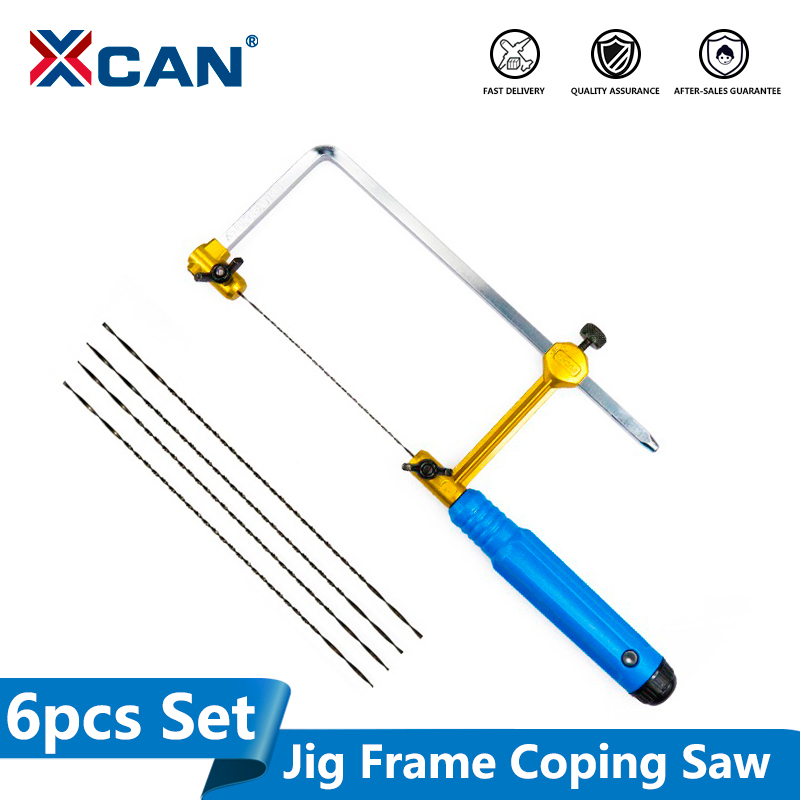 XCAN Adjustable Mini Saw U Type Mini Saw Saw Bow For Jewelry DIY Tools Woodwork Craft Tools Hand Tools Set Saw Blade