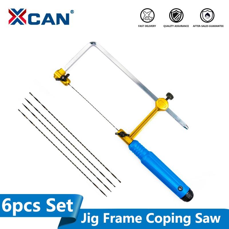 XCAN Adjustable Mini Saw U Type Mini Saw Saw Bow For Jewelry DIY Tools Woodwork Craft Tools Hand Tools Set Saw Blade
