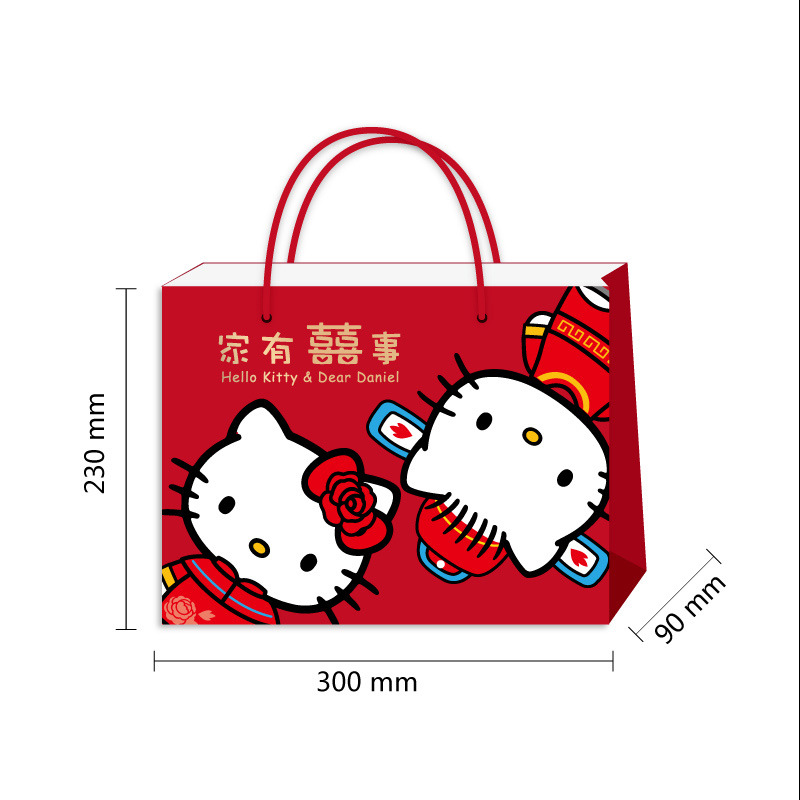 New Products Wedding Bronze Tote Bag Marriage Candy Bags Supplies Chinese Style Paper Box Large Capacity
