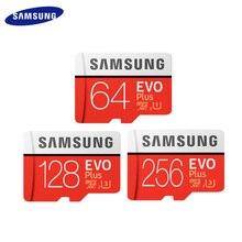 SAMSUNG 메모리 카드 마이크로 SD 카드 256GB 128GB U3 64GB U1 SDXC 그레이드 EVO + 클래스 10 UHS 1 TF 카드 트랜스 플래시 카드 최대 100 메가바이트/초