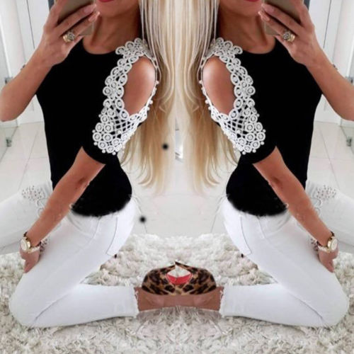 2XL Plus Size Loose Casual Strapless Women Blouse And Tops Embroidery Beading Short Sleeve Work Wear Shirt