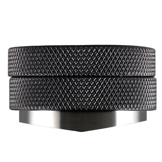 Tamper de café 58.35mm base convexa aço inoxidável aperto ajustável lidar com feijão barista espresso calcadeira palma pressão da cozinha ferramenta