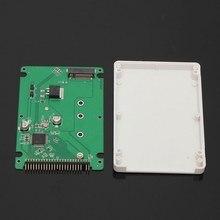 M.2 ngff ssd sata para 2.5 ide 44pin conversor adaptador com caso preto/branco cor sataiii conector sdd conversor adaptador de cartão