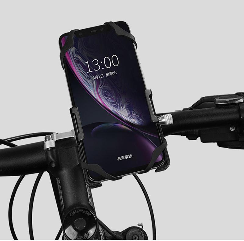 Aluminum alloy mobile phone bracket Bicycle scooter Enhanced four-claw design