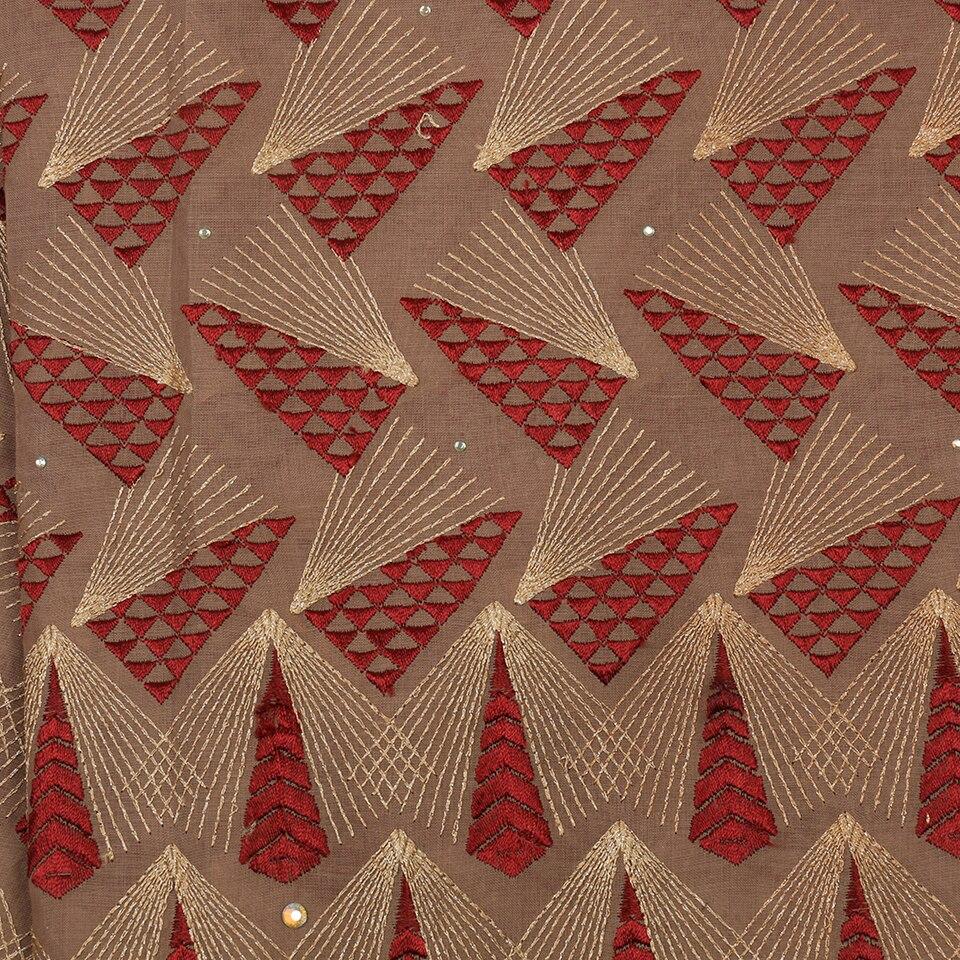 Derniers lacets africains 2019 haute qualité nigérian sec dentelle tissu coton dentelle tissu avec des pierres pour les femmes KS2893B-4 - 5