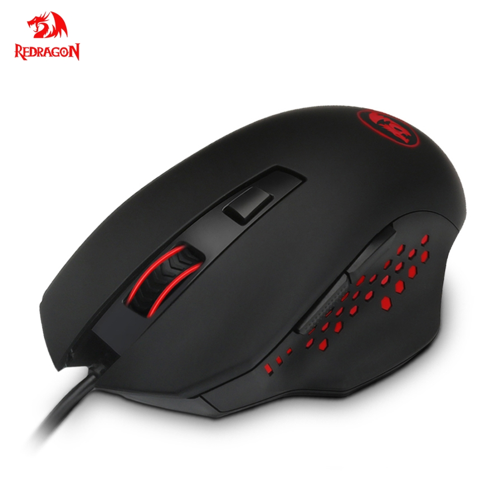 Redragon CENTROPHORUS M610 USB Gaming Mouse Wired 3200 DPI 6 Buttons Ergonomic Design For Desktop Computer Mice Gamer LOL PC