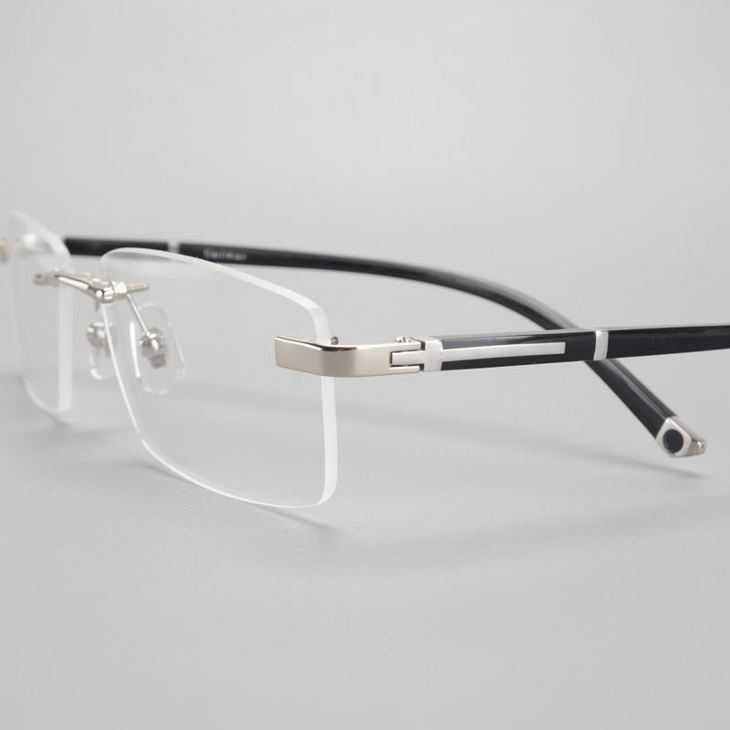 Glasses Frame Men Rimless Eyeglasses Man Fashion Prescription Spectacles Optical Male Eyeglass Degree Points Clear Lens