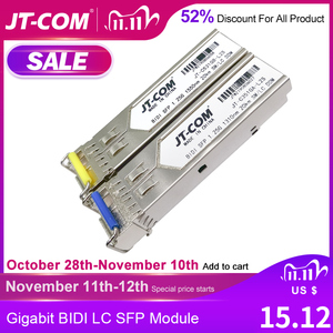 Image 1 - 1Gb LC SFP Module single fiber Optical Transceiver Gigabit  Fiber sfp switch module 3 80km Compatible with Mikrotik/Cisco switch