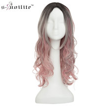 SNOILITE 24inch Long Wavy Cosplay Wig Red Green Puprle Pink Black Blue Sliver Gray Blonde Brown 60cm Syntheic Hair Wig for women цена 2017