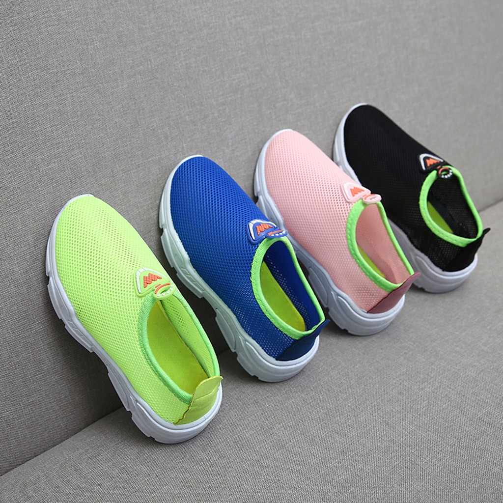 Children Kids Baby Boys Girls Mesh Candy Color Sport Run Sneakers Casual Shoes summer spring toddler boy tennis shoes dropship