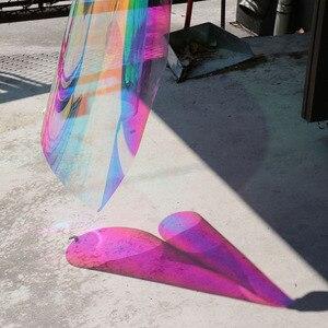 Image 2 - SUNICE 百貨店ホーム Fesitval DIY レインボー効果窓フィルム玉虫色装飾ガラス粘着 68 センチメートル × 700 センチメートル