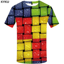 3d Tshirt Geometric T-shirt Men Colorful Funny T shirts Psychedelic Printed Russia Anime Clothes Gothic T-shirts