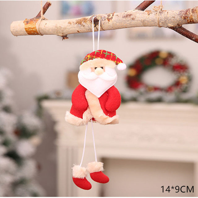 New Year 2020 Cute Santa Claus/Snowman/Angel Christmas Dolls Noel Christmas Tree Decoration for Home Xmas Navidad 2019 Kids Gift 50