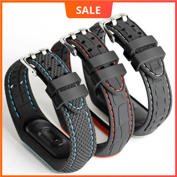 Bracelet For Xiaomi Mi Band 3 4 5 Sport Watch Silicone Wrist Strap 45  - discount item  51% OFF Watches Accessories