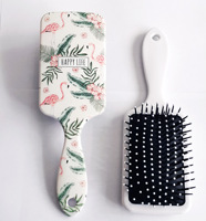 Women Hair Comb Paddle Hair Brush/Bird Hamster Pattern for Girls Hair Styling Antistatic for Straight Curly Hair Anti-Tangle 5