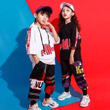 Детские свободные толстовки с капюшоном больших размеров; толстовка; топ для бега; повседневные штаны; одежда в стиле хип-хоп для девочек и мальчиков; танцевальный костюм в стиле джаз; одежда